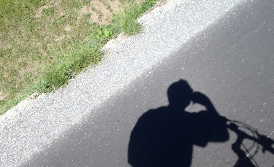 Cyclist's shadow