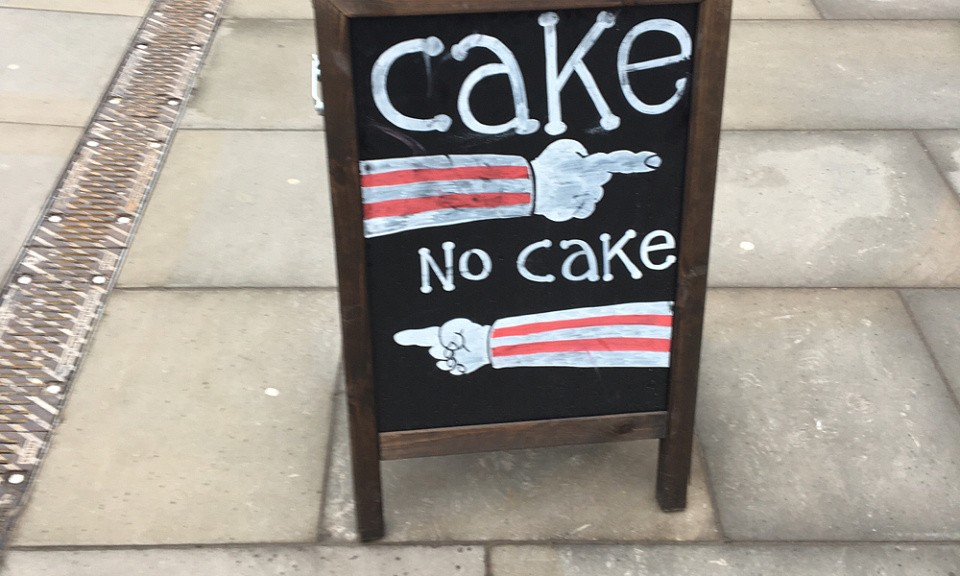 The (cake) fork in the road