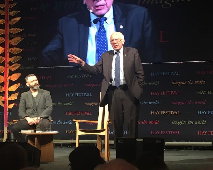 Sanders at Hay