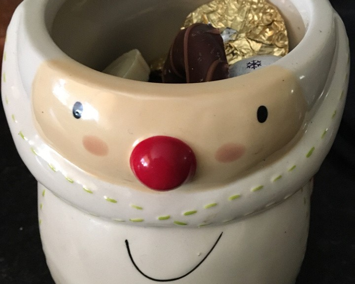 Santa biscuit barrel